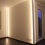 LED-Wohnraumbeleuchtung mit direktem oder indirektem Licht